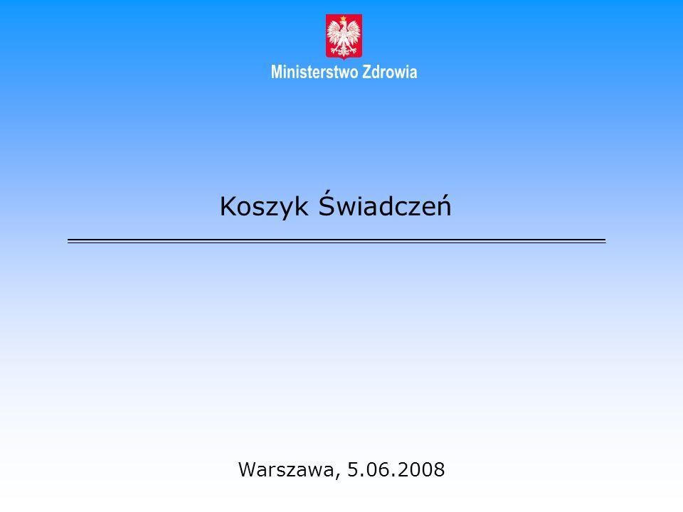 Koszyk Świadczeń Warszawa, 5.06.2008