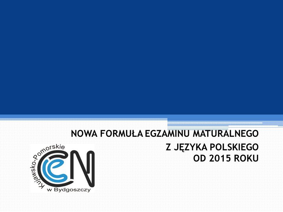 Matura 2015 - część pisemna Zdający rozwiązuje zadania w obu zestawach.