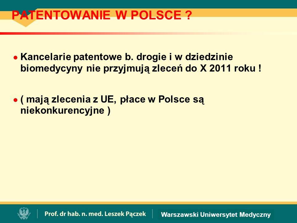 PATENTOWANIE W POLSCE .Kancelarie patentowe b.