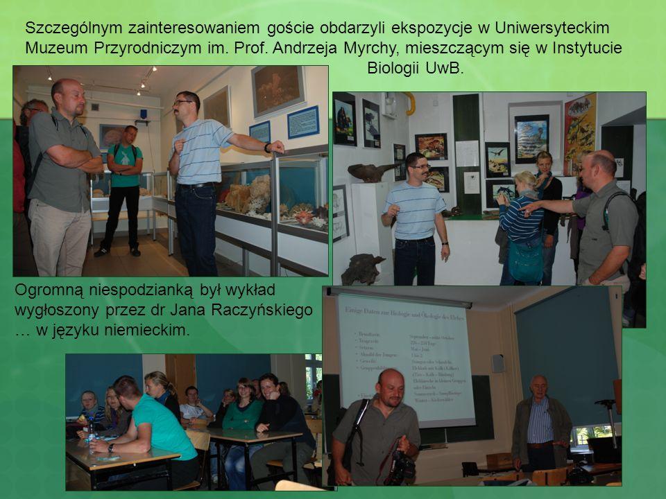 Szczególnym zainteresowaniem goście obdarzyli ekspozycje w Uniwersyteckim Muzeum Przyrodniczym im. Prof. Andrzeja Myrchy, mieszczącym się w Instytucie