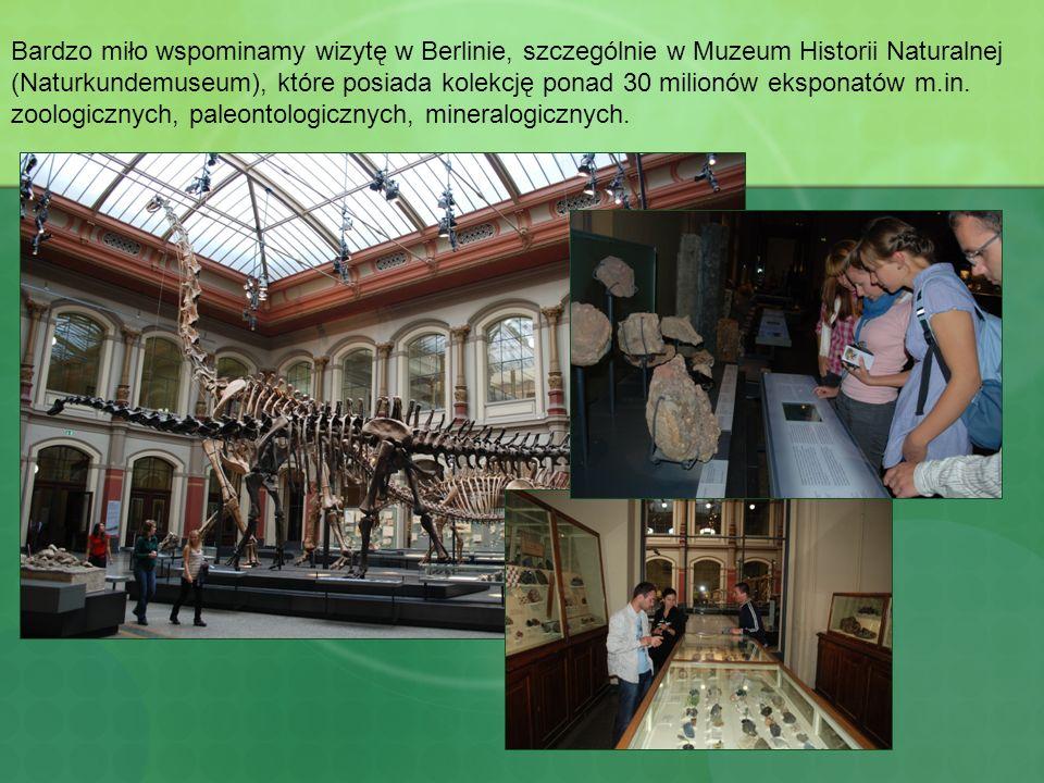 Bardzo miło wspominamy wizytę w Berlinie, szczególnie w Muzeum Historii Naturalnej (Naturkundemuseum), które posiada kolekcję ponad 30 milionów ekspon