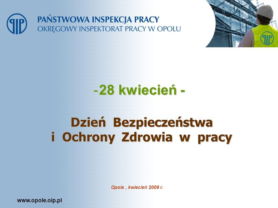 www.opole.oip.pl -28 kwiecień - Dzień Bezpieczeństwa i Ochrony Zdrowia w pracy Opole, kwiecień 2009 r.