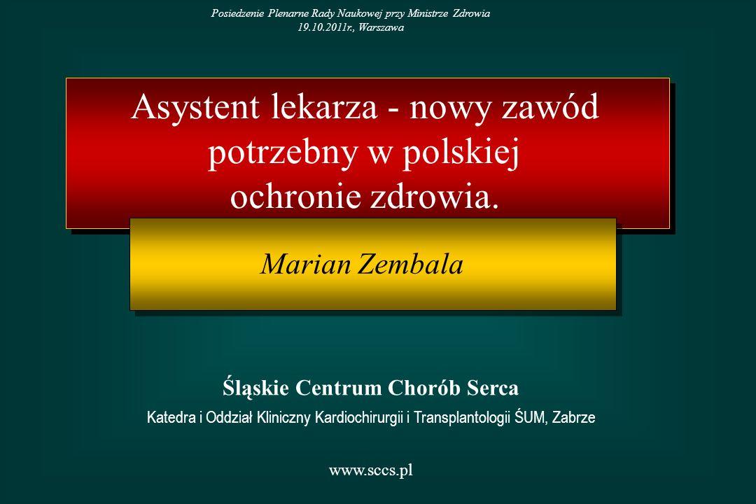 intensywna terapia specjalności zabiegowe (udział w zabiegach operacyjnych jako 1-2 asysta) oraz pomoc w opiece około- i poszpitalnej oddziały ratunkowe oddziały przewlekle chorych oddziały opieki paliatywnej Potencjalne obszary zatrudnienia w ochronie zdrowia w Polsce w latach 2012-2020
