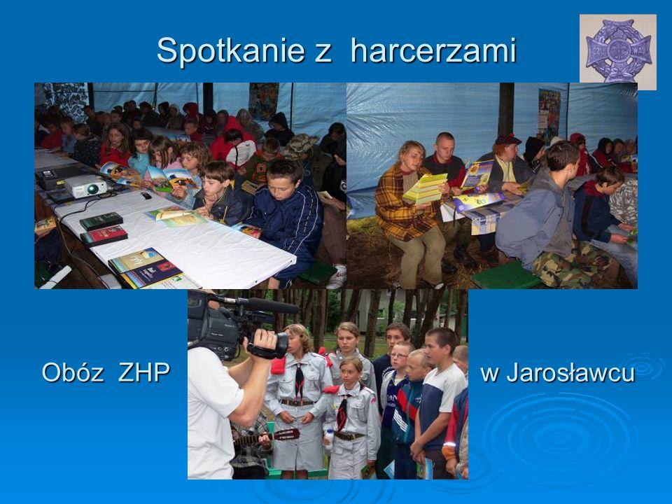 Spotkanie z harcerzami Obóz ZHP w Jarosławcu