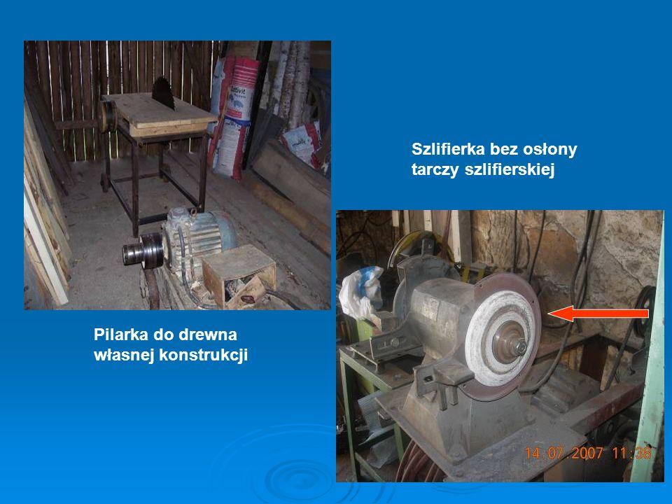 Szlifierka bez osłony tarczy szlifierskiej Pilarka do drewna własnej konstrukcji