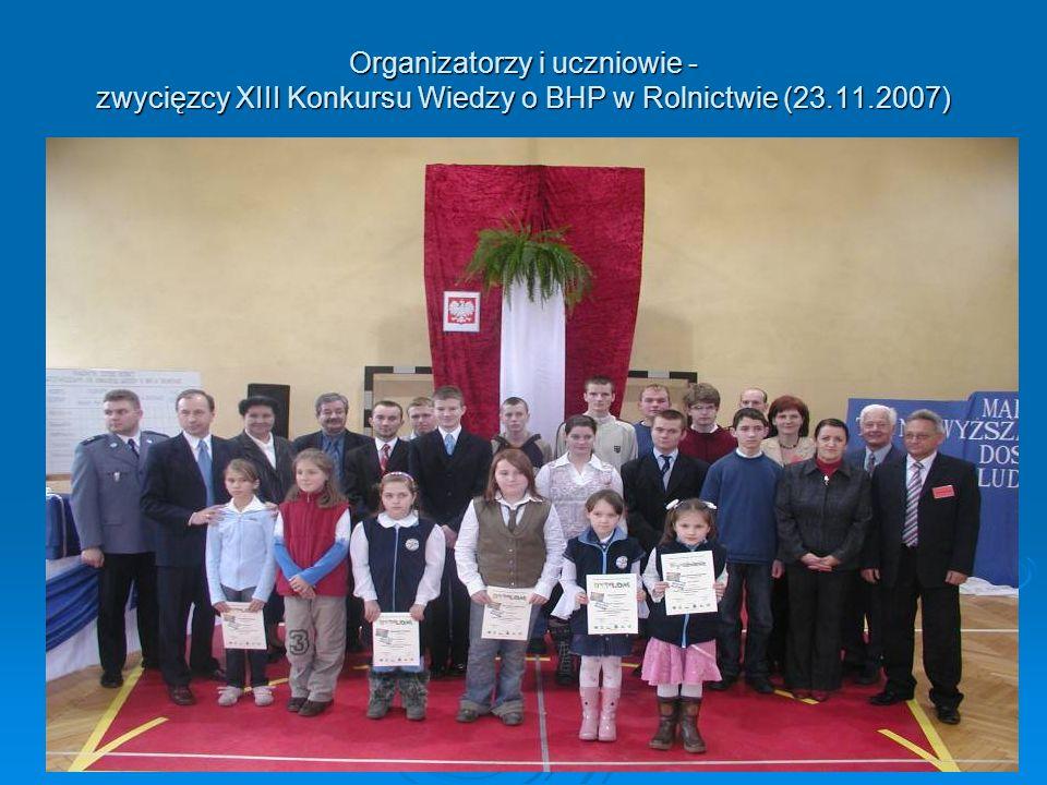 Otwarcie i przebieg XIV Konkursu Wiedzy o BHP w Rolnictwie (28.11.2008)