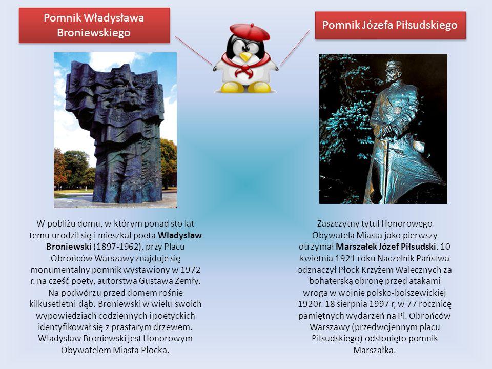 W pobliżu domu, w którym ponad sto lat temu urodził się i mieszkał poeta Władysław Broniewski (1897-1962), przy Placu Obrońców Warszawy znajduje się m