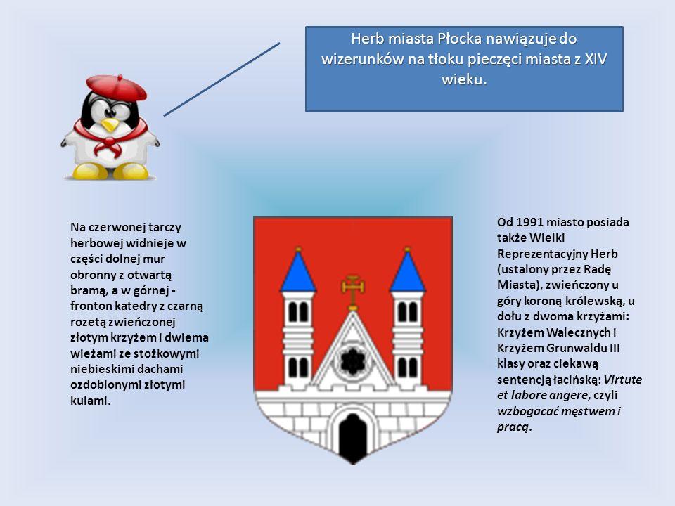 Od 1991 miasto posiada także Wielki Reprezentacyjny Herb (ustalony przez Radę Miasta), zwieńczony u góry koroną królewską, u dołu z dwoma krzyżami: Kr