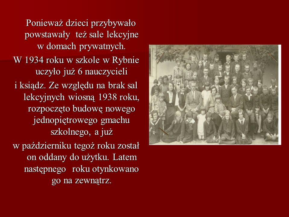 Z historii szkoły Szkoła Podstawowa w Rybnie istnieje od dawien dawna. Nie znamy daty jej powstania, ale wiemy, że istniała jeszcze przed 1863 rokiem