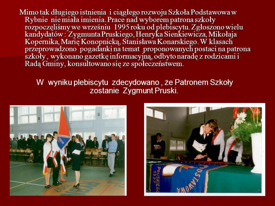 Po wyzwoleniu nauka odbywała się w gmachu wybudowanym w 1938 roku. Ale w 1976 r. Szkoła Podstawowa w Rybnie została przekształcona w Zbiorczą Szkołę G