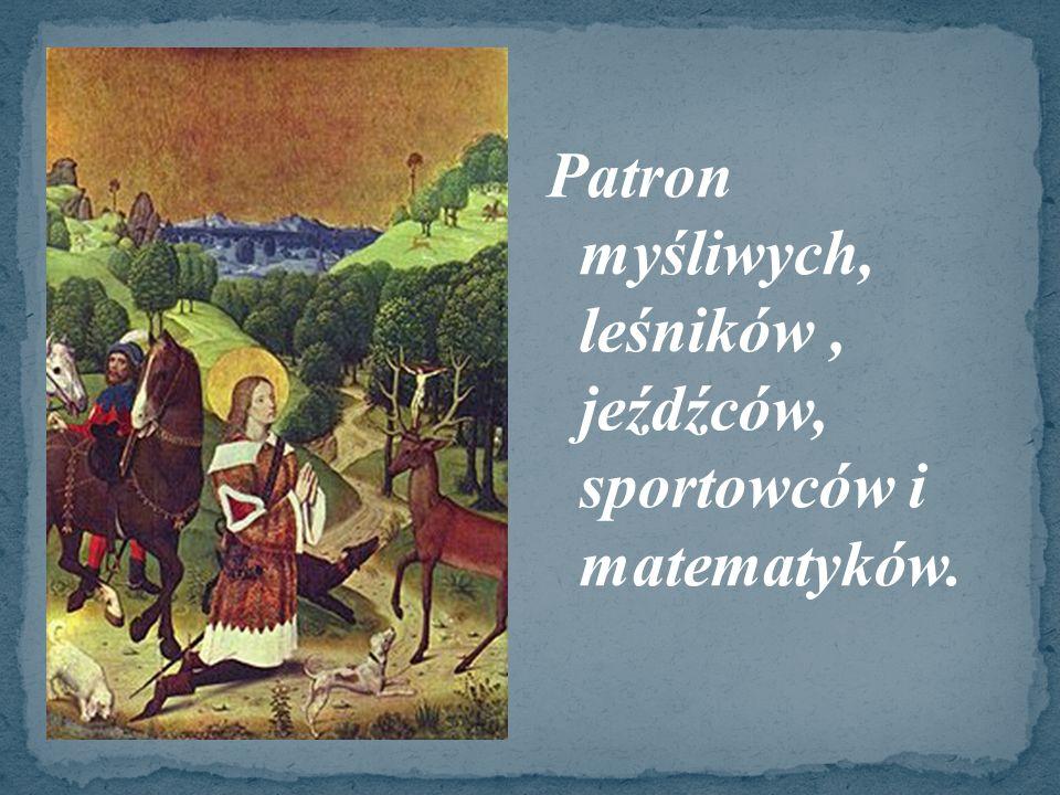 Św.Hubert przyszedł na świat prawdopodobnie w 655 roku.