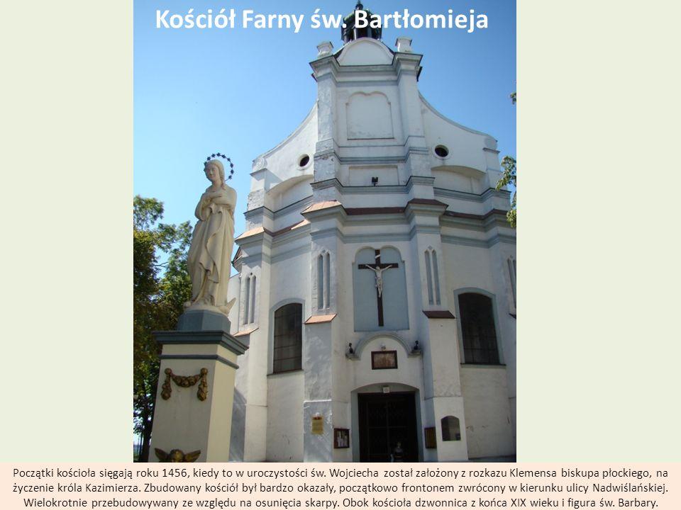 Kościół Farny św. Bartłomieja Początki kościoła sięgają roku 1456, kiedy to w uroczystości św. Wojciecha został założony z rozkazu Klemensa biskupa pł