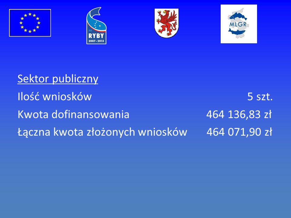 Sektor publiczny Ilość wniosków 5 szt.