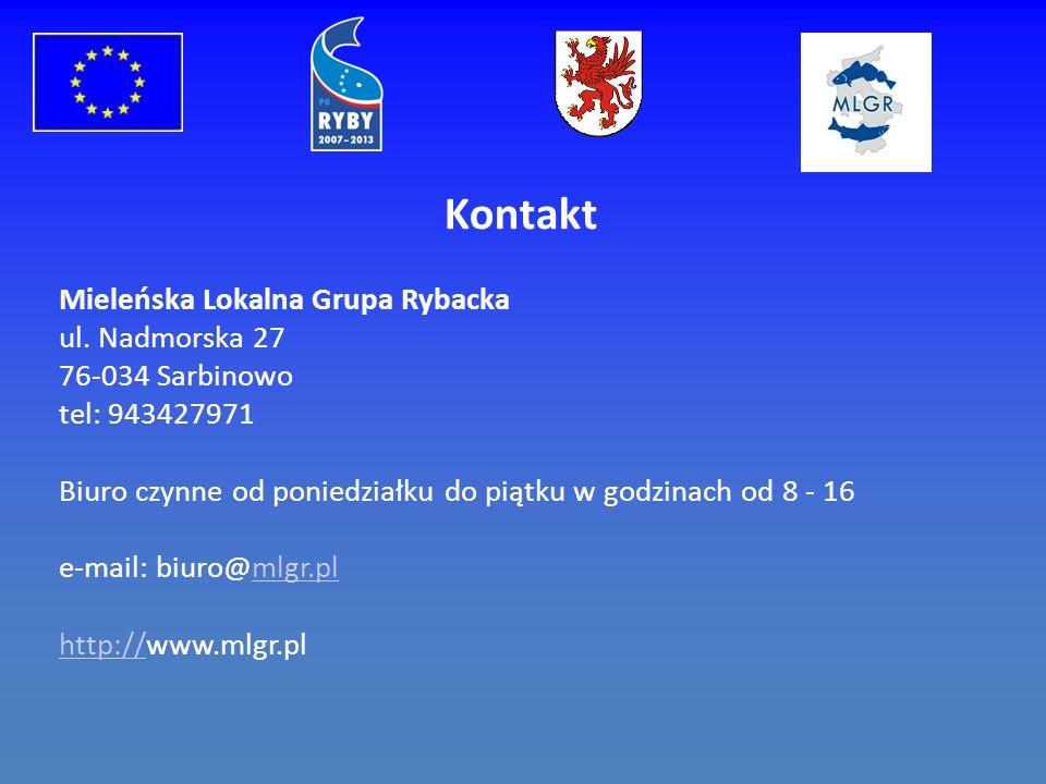 Kontakt Mieleńska Lokalna Grupa Rybacka ul.