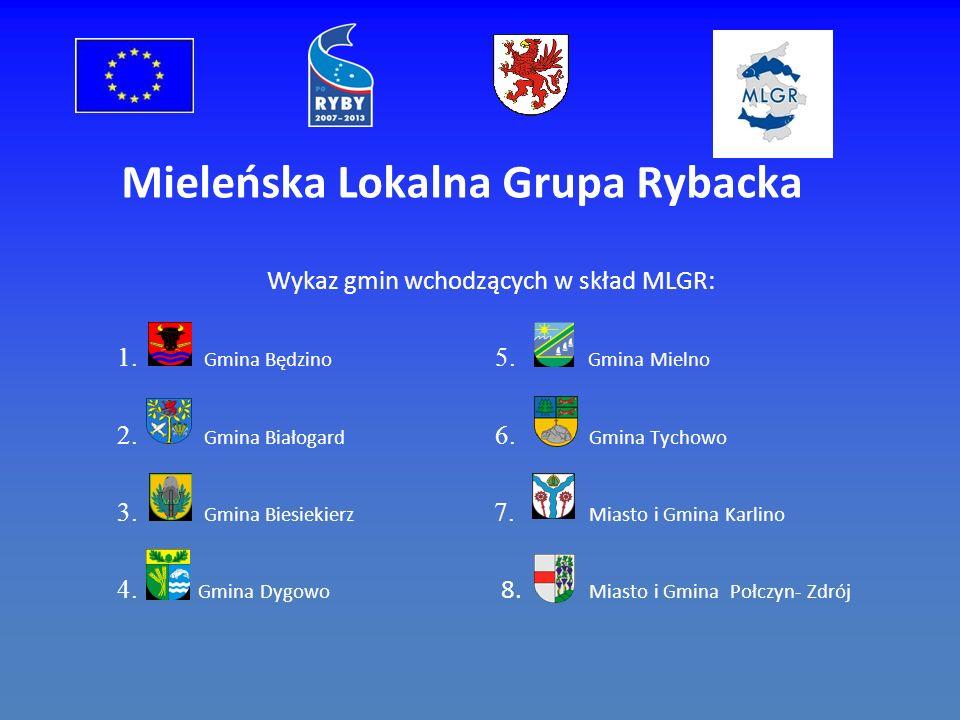 Mieleńska Lokalna Grupa Rybacka Wykaz gmin wchodzących w skład MLGR: 1.