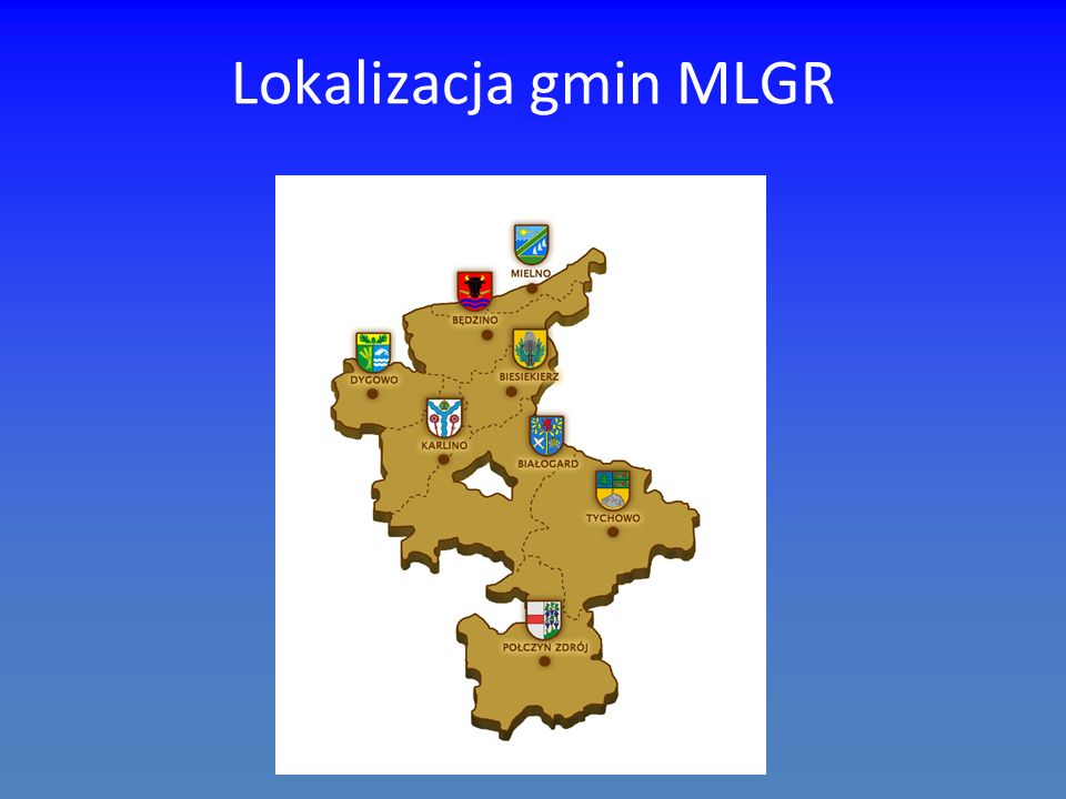Lokalizacja gmin MLGR