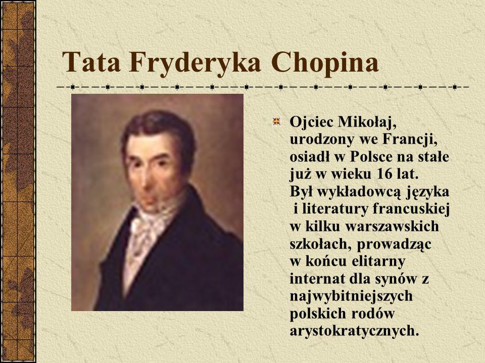 Fryderyk Chopin ur. 22 lutego lub 1 marca 1810 w Żelazowej Woli, zm. 17 października 1849 w Paryżu – polski kompozytor i pianista.