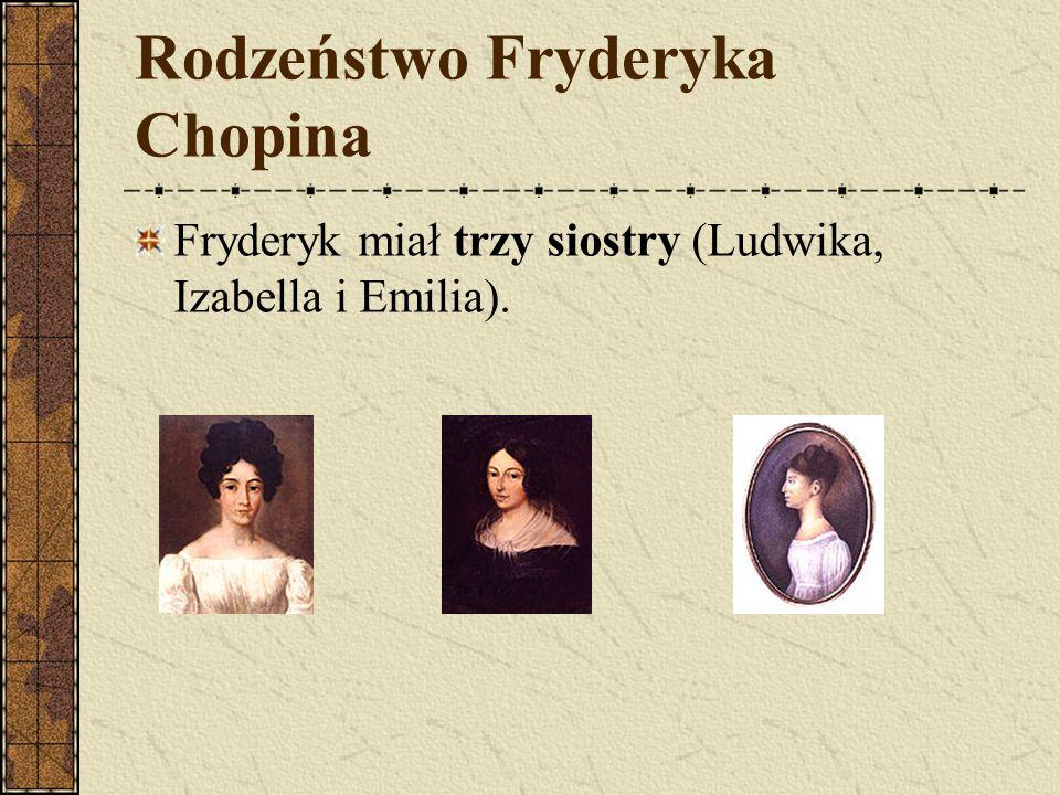 Matka Fryderyka Chopina Matka, Justyna z Krzyżanowskich, uwielbiała grać na fortepianie.