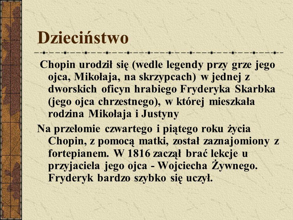 Rodzeństwo Fryderyka Chopina Fryderyk miał trzy siostry (Ludwika, Izabella i Emilia).