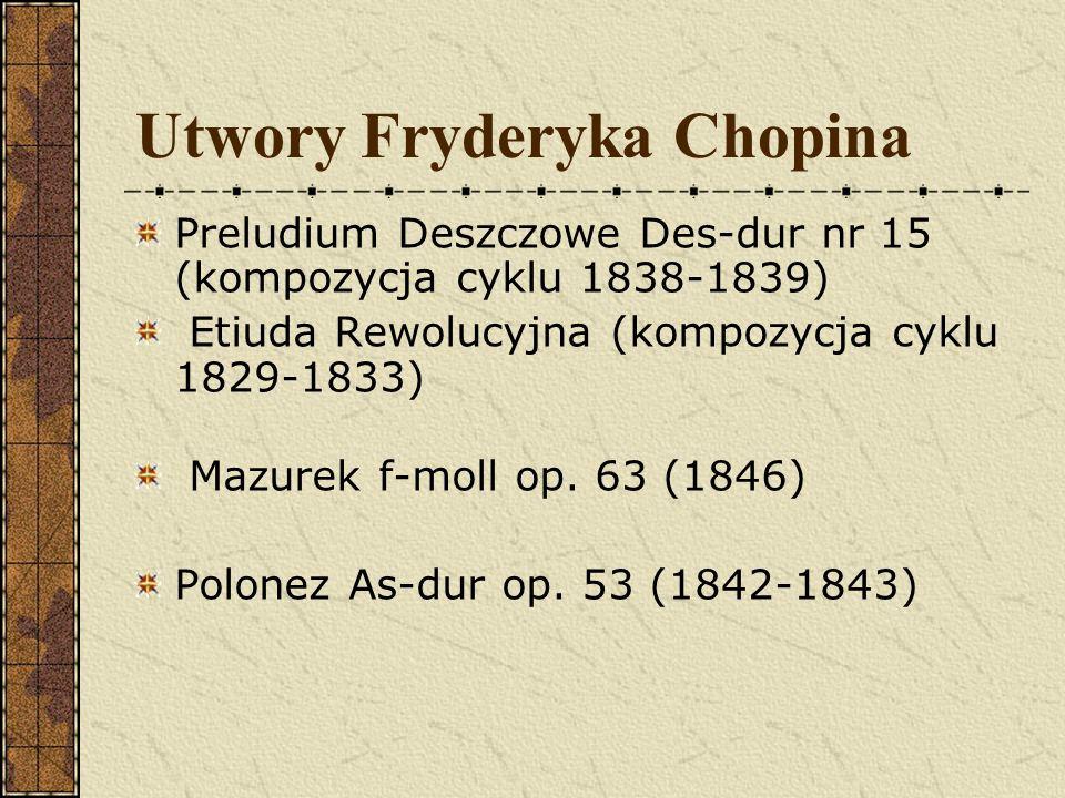 Pierwsze sukcesy W 1817 r. Fryderyk podjął pierwsze poważniejsze próby kompozytorskie. Z tego okresu pochodzą nieoznaczone numerem opusowym polonezy:
