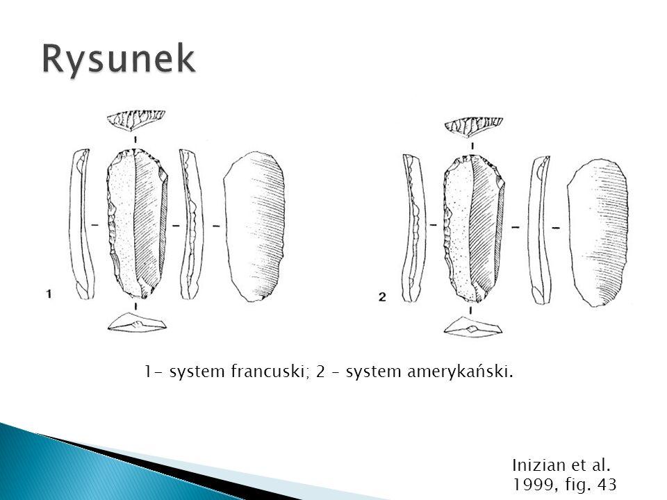 1- system francuski; 2 – system amerykański. Inizian et al. 1999, fig. 43