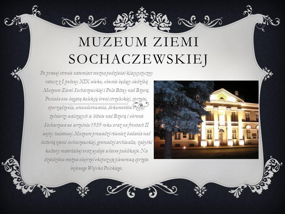 RUINY ZAMKU Niedaleko Placu znajduje się park miejski z pomnikiem poświęconym Fryderykowi Chopinowi.