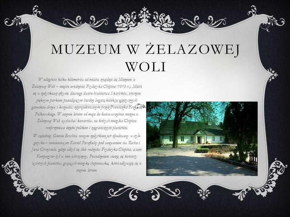 PARE INNYCH INFORMACJI Naprzeciwko cmentarza parafialnego na ulicy Traugutta wystawiono na murowanej, otynkowanej kolumnie ozdobionej gzymsem kostkowym, przydrożną figurkę Matki Boskiej z Dzieciątkiem z przełomu XVIII i XIX wieku.