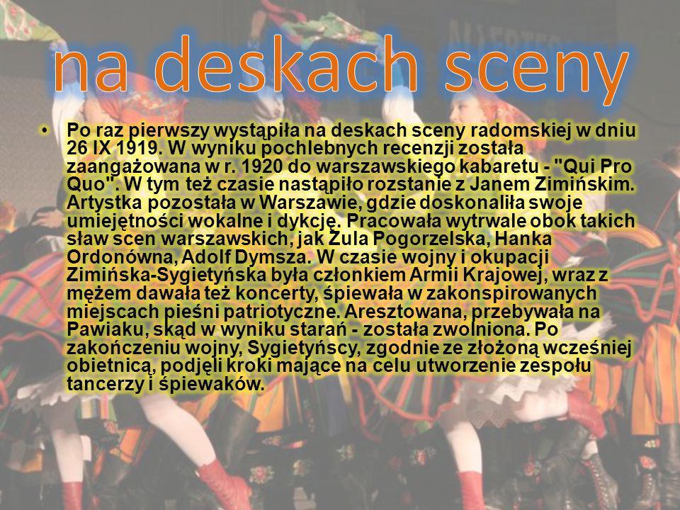 Wielkie osobowości W Mazowszu w latach pięćdziesiątych występowały wielkie osobowości sceny polskiej : Irena Santor i Lidia Korsakówna, natomiast w latach siedemdziesiątych Danuta Kowalska – znana aktorka oraz Stanisław Jopek- wielki solista związany z zespołem przez kilkadziesiąt lat.