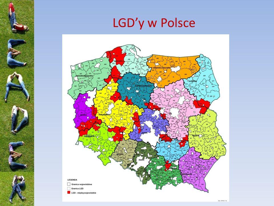Statystyka PROW 2007-2013 336 LGD Obejmują ponad 90% ludności i obszarów wiejskich Polski 787 500 000 EUR 148 PLN x liczba mieszkańców 1 LSR od 10 000 do 150 000 mieszkańców ~ 4,5% alokacji dla PROW 2007-2013