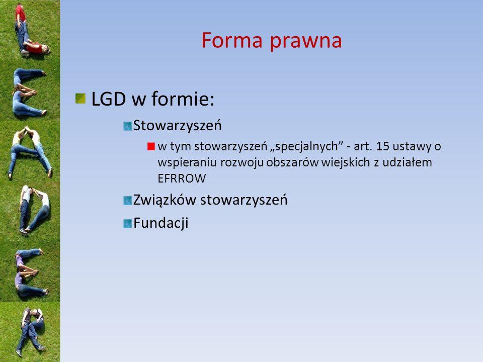 Rola LGD Programowanie rozwoju na obszarze LSR (przygotowanie strategii) Doradztwo na rzecz potencjalnych beneficjentów Wybór projektów (przyczyniających się do realizacji strategii) Animowanie społeczności