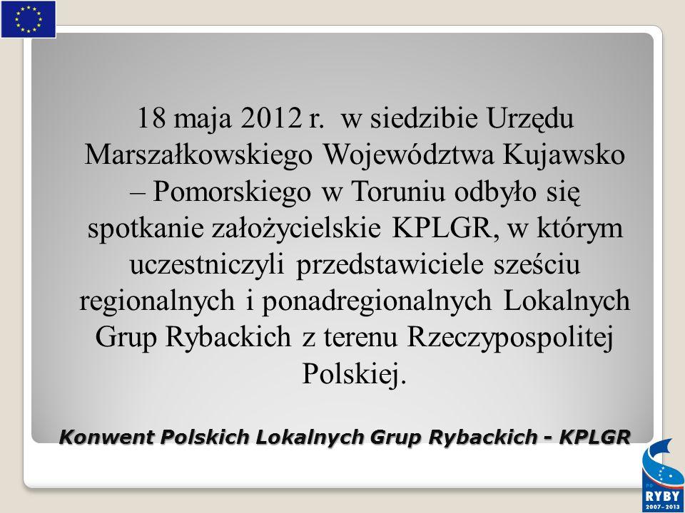 Konwent Polskich Lokalnych Grup Rybackich - KPLGR 18 maja 2012 r.