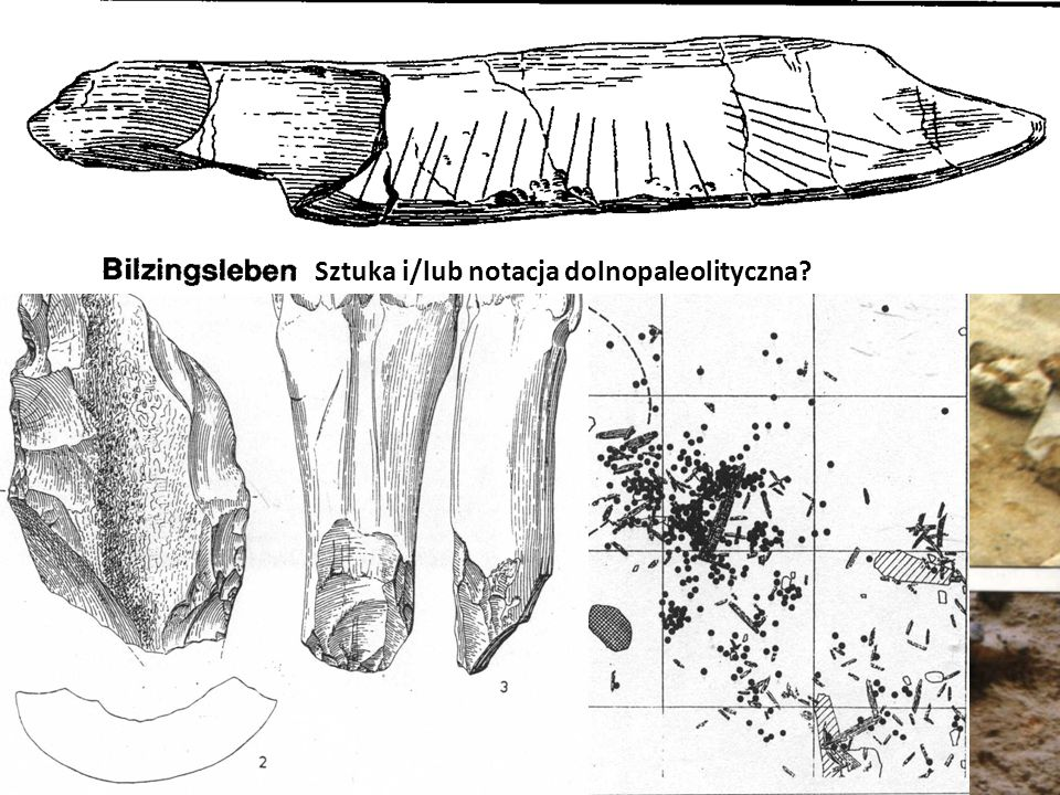 Bilzingsleben Sztuka i/lub notacja dolnopaleolityczna?