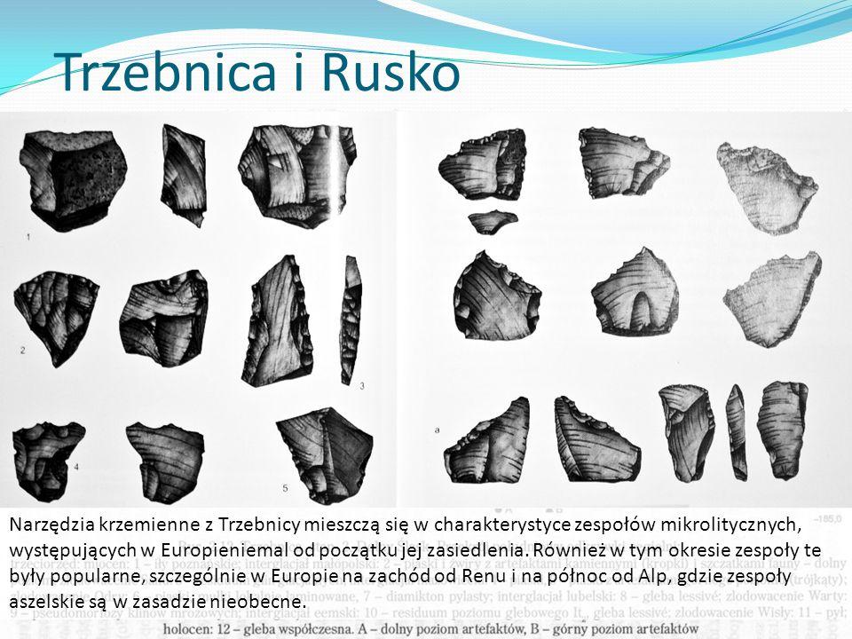 Trzebnica i Rusko Najstarsze ślady zasiedlenia ziem polskich, datowane są niejednoznacznie, być może ich wiek przekracza 500 tys.