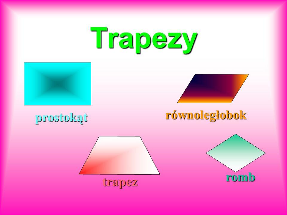 Trapezy prostokąt równoległobok trapez romb