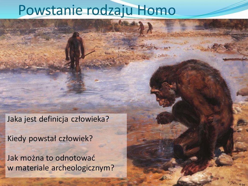 Powstanie rodzaju Homo Jaka jest definicja człowieka? Kiedy powstał człowiek? Jak można to odnotować w materiale archeologicznym?