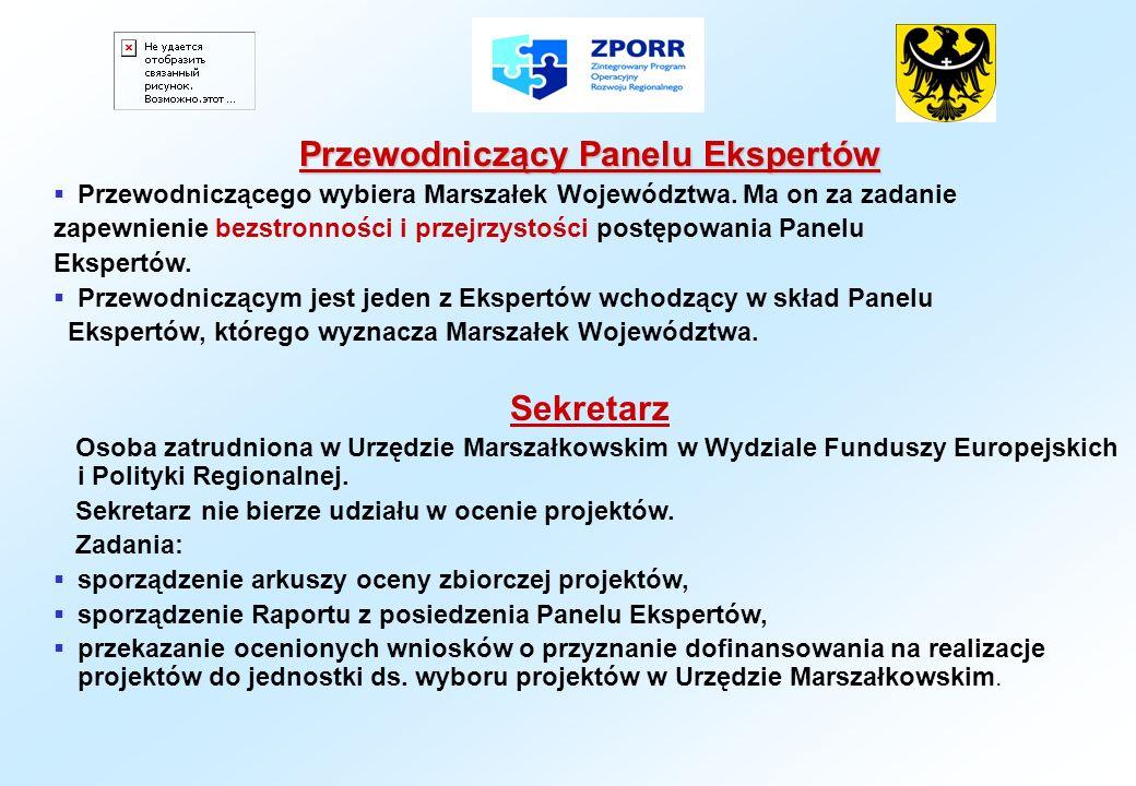 Ocena jakości wniosku przez Panel Ekspertów Panel Ekspertów w swojej ocenie bierze pod uwagę tylko wnioski kompletne i zgodne z wymogami formalnymi.
