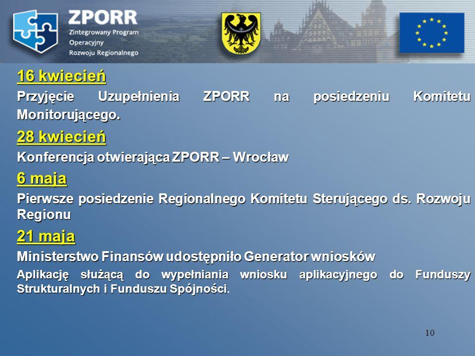 9 Wiceminister Marek Szczepański podkreślił, że prace nad uruchomieniem Zintegrowanego Programu Operacyjnego Rozwoju regionalnego dobiegają końca.