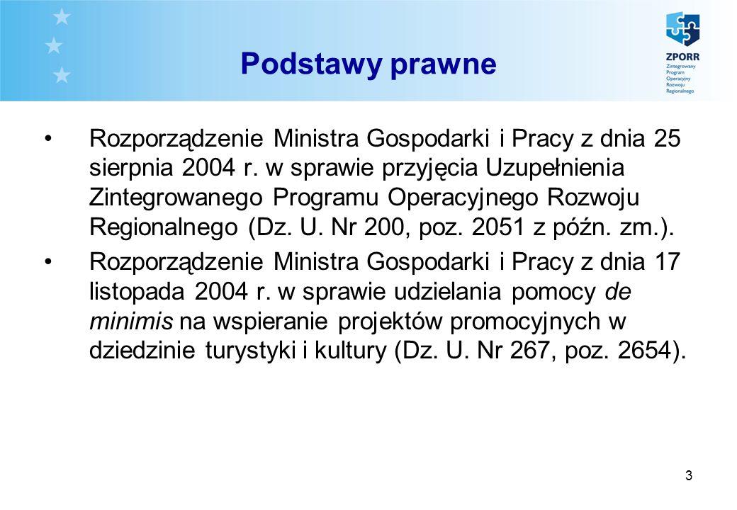 3 Podstawy prawne Rozporządzenie Ministra Gospodarki i Pracy z dnia 25 sierpnia 2004 r. w sprawie przyjęcia Uzupełnienia Zintegrowanego Programu Opera