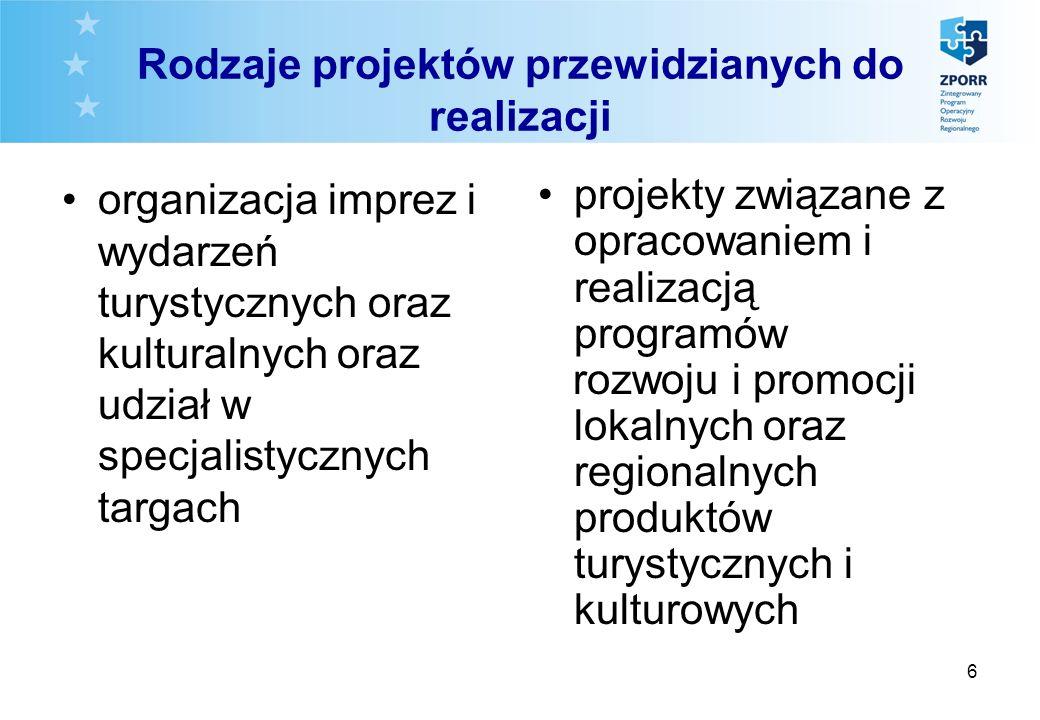 7 Wartość projektów promocyjnych Całkowita wartość brutto projektów promocyjnych nie może być niższa niż równowartość 100 000 euro = 400 000 PLN