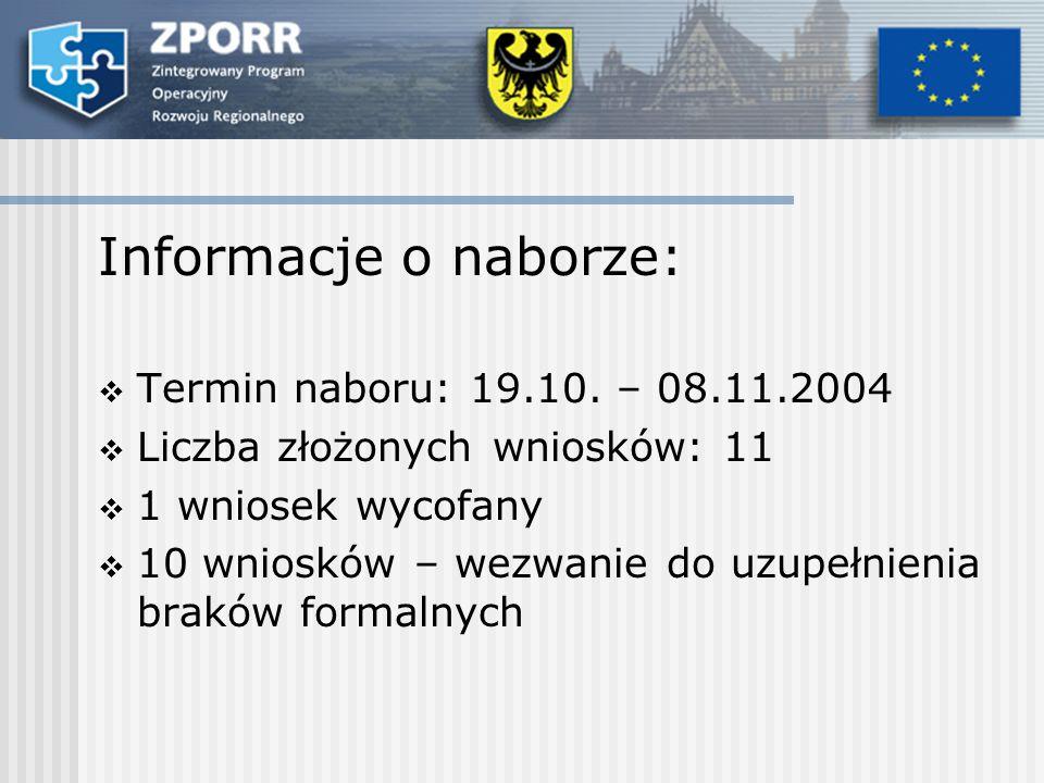 Informacje o naborze: Termin naboru: 19.10.
