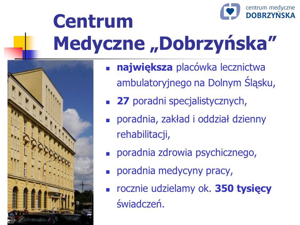 Centrum Medyczne Dobrzyńska największa placówka lecznictwa ambulatoryjnego na Dolnym Śląsku, 27 poradni specjalistycznych, poradnia, zakład i oddział