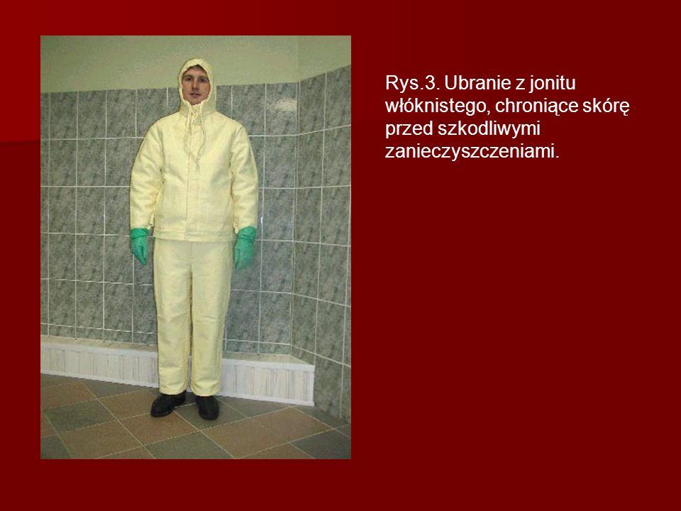 Rys.3. Ubranie z jonitu włóknistego, chroniące skórę przed szkodliwymi zanieczyszczeniami.