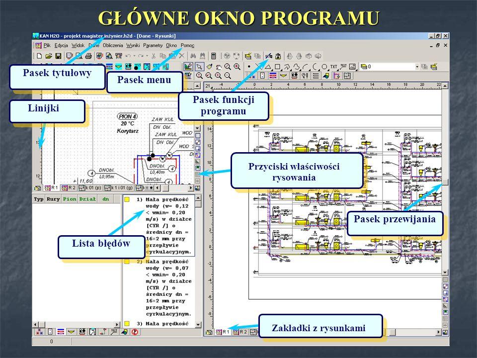 KAN H2O Wprowadzanie danych na rozwinięcie w formie graficznej.