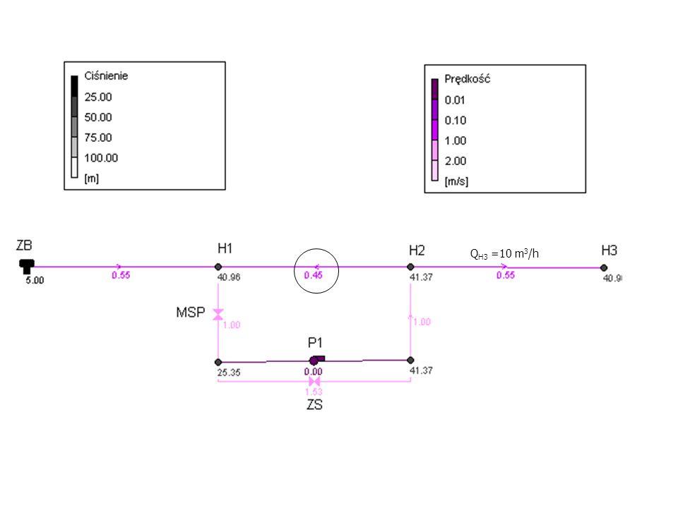 Q H3 =10 m 3 /h
