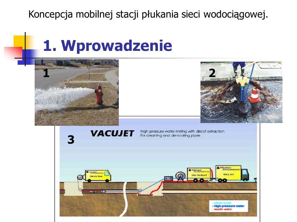 1. Wprowadzenie Koncepcja mobilnej stacji płukania sieci wodociągowej. 21 3