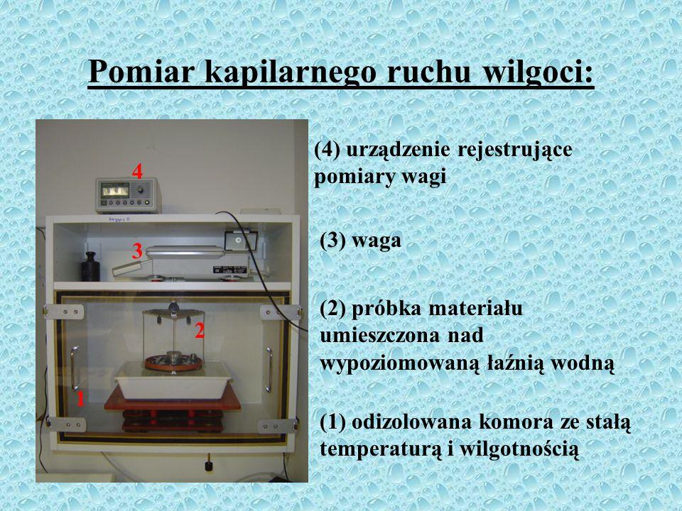 Kapilarny ruch wilgoci (podciąganie kapilarne): kapilarny ruch wilgoci wywołany jest siłami kapilarnymi (zjawisko adhezji); podciąganie kapilarne ma n