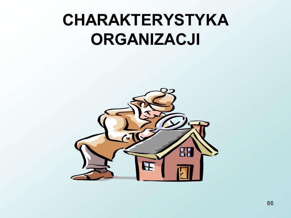 66 CHARAKTERYSTYKA ORGANIZACJI