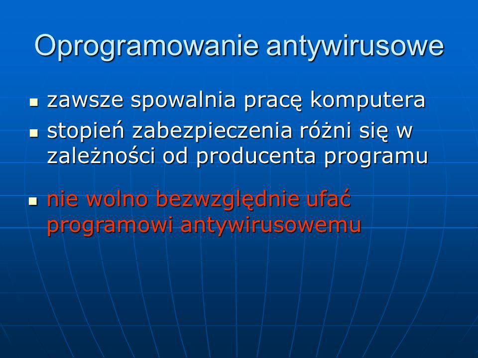 Oprogramowanie antywirusowe zawsze spowalnia pracę komputera zawsze spowalnia pracę komputera stopień zabezpieczenia różni się w zależności od produce
