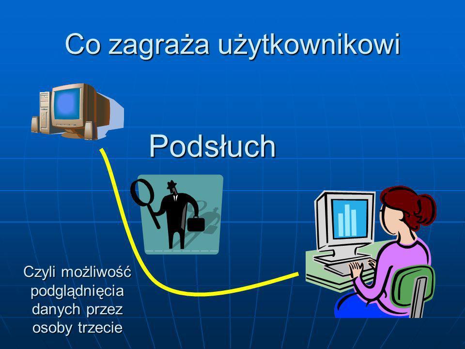 Oprogramowanie antyszpiegowe Warto używać dwóch różnych programów SpyBot Search & Destroy Lavasoft USA Ad-Aware SE Personal http://www.safer-networking.org/ http://www.lavasoftusa.com/