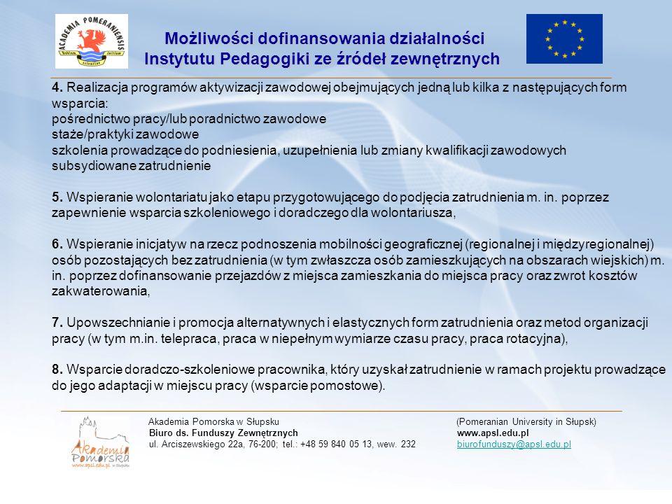 Termin naboru wniosków: od 21 lutego 2011 r.do 31 marca 2011 r.